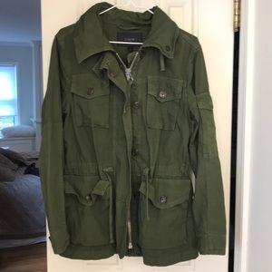 Jcrew s camp jacket utility army cotton